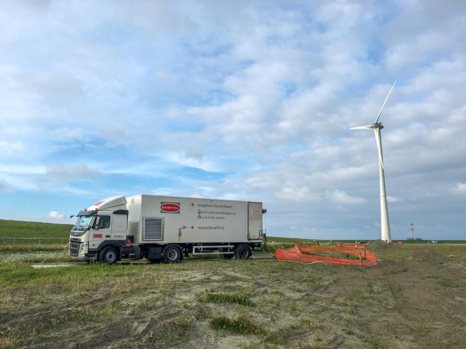 Voorbeeld projecten - Leidingvullen Eemshaven Nederland