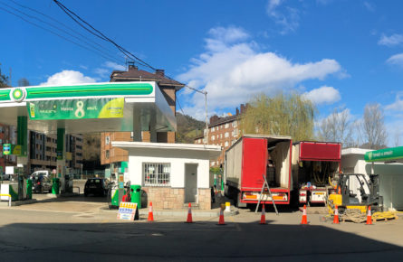 Petrolstation in Spain for basement filling
