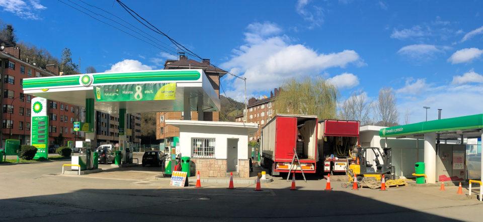 Petrolstation in Spain for basement filling